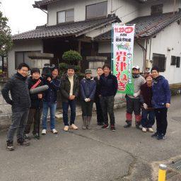 岩津ねぎの天ぷらをイベントで出したら、テレビの取材を受けました。