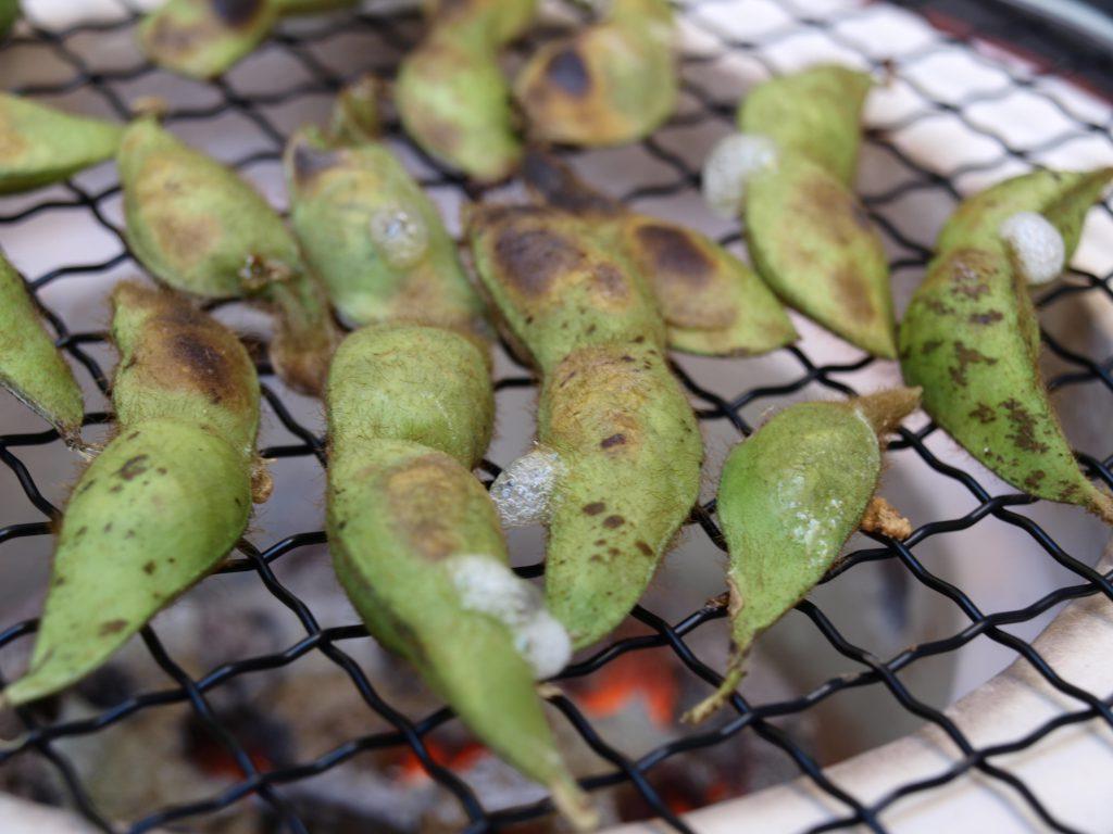 NOUENの丹波黒枝豆は焼いても旨い!焼き枝豆絶品です!